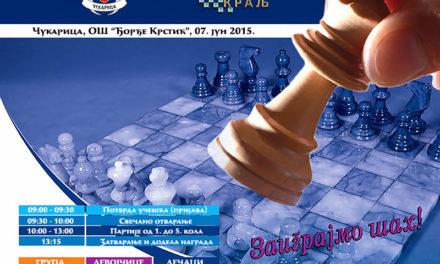 3. Otvoreno prvenstvo Čukarice za mlade u ubrzanom šahu