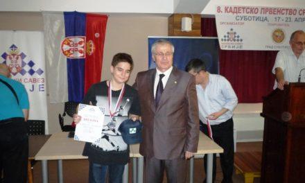 Kadetsko prvenstvo Srbije – Mihailo vice šampion, Nevena bronzana