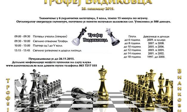 II Trofej Vidikovca – raspis