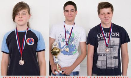 3 medalje na OMLADINSKOM prvenstvu Beograda