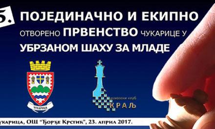 5. Međunarodno otvoreno prvenstvo Čukarice – raspis