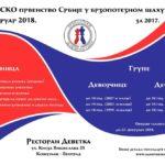 Prvo kadetsko prvenstvo Srbije u brzopoteznom šahu PSŠS